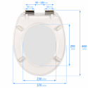 Slow-close toilet seat DUROPLAST SN8975