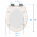 Slow-close toilet seat DUROPLAST SN8955
