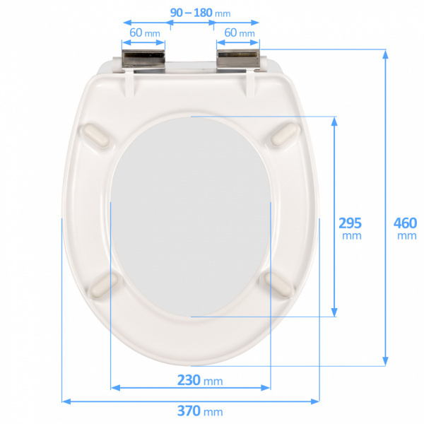 Slow-close toilet seat DUROPLAST SN8967